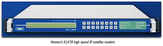 Newtec�s EL478 high speed IP satellite modem
