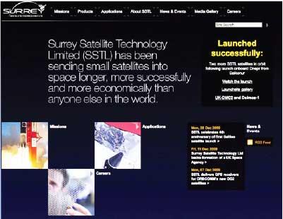 SSTL homepage