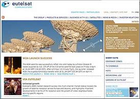 Eutelsat homepage