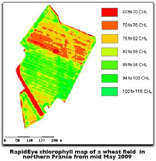 Chlorophylll map