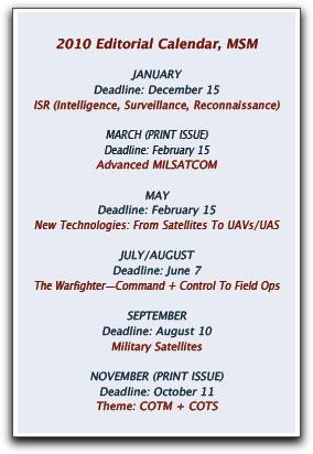 MSM calendar 2010