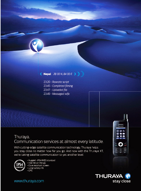 Thuraya ad SM Dec09
